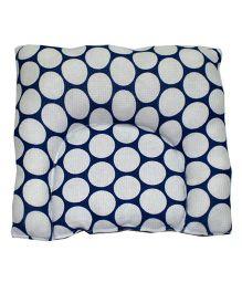 Kadambaby Baby Pillow Polka Print -  Blue