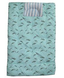 Kadambaby Sea Themed  Soft Premium Baby Bedding Set - Blue