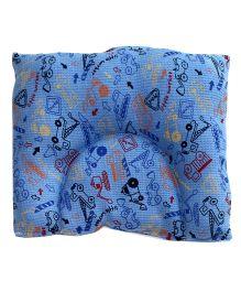 Kadambaby Baby Pillow Blue Vehicle Print  - Blue