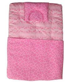 Kadambaby Zebra Theme Soft Premium Baby Bedding Set - Pink