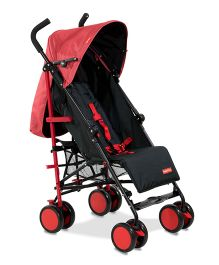 Fisher Price Lil' Traveler Pram Cum Stroller Red Black - FPST01R