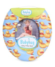Babyhug Potty Seat Duck Print - Blue
