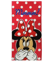 Athom Trendz Disney Minnie Mouse Polka Dot Bath Towel - Red  DIS-06-7-802