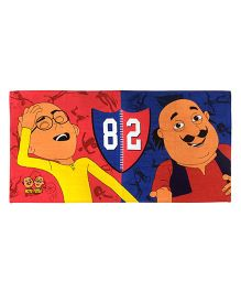 Athom Trendz Motu Patlu Bath Towel - Red Blue MTP-06-7-905