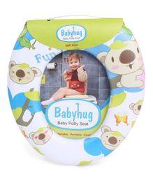 Babyhug Potty Seat Bear Print - White