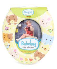 Babyhug Potty Seat Animal Face Print - Yellow
