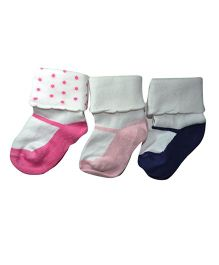 Footprints Super Soft Organic Cotton And Bamboo Socks Pack Of 3 - Multicolor