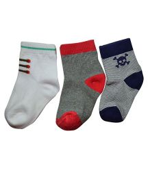 Footprints Super soft Organic cotton and bamboo socks- Pack of 3 - (12-24 Months)- Boys Multicolor