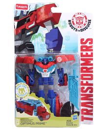 Transformers Funskool Robots In Disguise Optimus Prime Action Figure - Blue Red