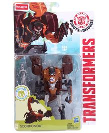 Transformers Funskool Robots In Disguise Scorponok Action Figure - Coffee And Orange