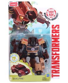 Transformers Funskool Robots In Disguise Quillfire Action Figure - Coffee Brown