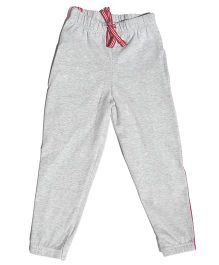 MTB Full Length Track Pants With Drawstring - Light Grey
