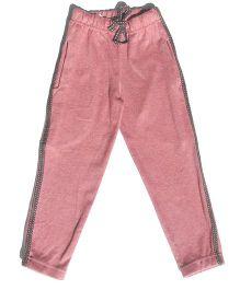 MTB Full Length Track Pants With Drawstring - Brick Pink