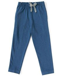 MTB Full Length Track Pants With Drawstring - Blue