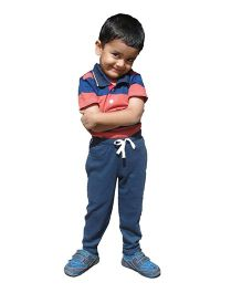 MTB Full Length Track Pants With Drawstring - Dark Blue