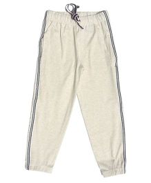 MTB Full Length Track Pants With Drawstring - Off White