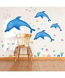 Syga Dolphin Wall Sticker - Blue