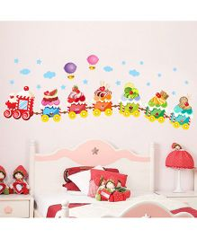 Syga Train Wall Sticker - Multicolor