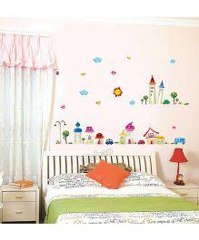Syga Castle Wall Sticker - Multicolor