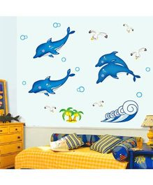 Syga Dolphin Wall Sticker - Blue