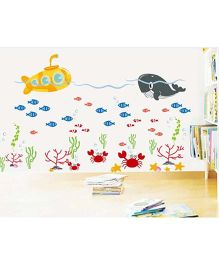 Syga Whale Wall Sticker - Multicolor