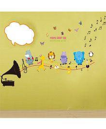 Syga Music Operator Wall Sticker - Multicolor