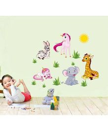 Syga Animals Wall Sticker - Multicolor