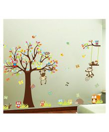 Syga Decals Tree Wall Sticker - Multicolor