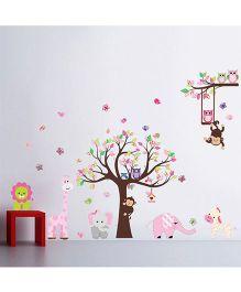 Syga Decals Zoo Animals Wall Sticker - Multicolor