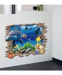 Syga 3D Sea World Wall Sticker - Multicolor