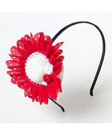 Bunchi Big Hat Hair Band - Red