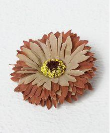 Bunchi Sunflower Big Hair Clip - Brown