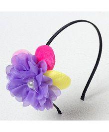 Bunchi Big Flower Metal Headband - Purple