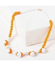 Bunchi Floral Necklace - Orange