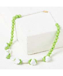 Bunchi Floral Necklace - Green
