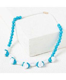 Bunchi Floral Necklace - Blue