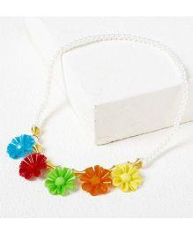 Bunchi Floral Necklace - Multicolor