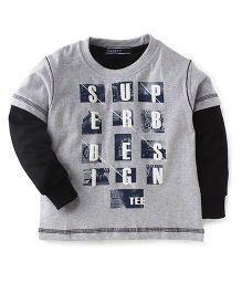 Smarty Doctor Sleeves T-Shirt Superb Design Print - Light Grey & Black