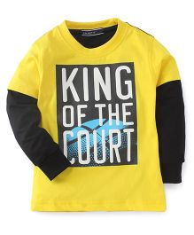 Smarty Doctor Sleeves T-Shirt Caption Print - Yellow