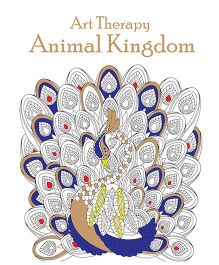 Art Therapy Animal Coloring Book - English