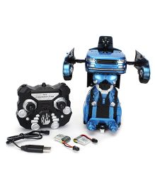 Turboz Remote Controlled Transforming City Car Cum Robot - Blue Black