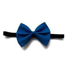 Pink Velvetz Bow Headband - Navy Blue