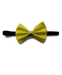 Pink Velvetz Bow Headband - Lemon Yellow