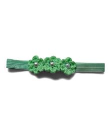 Pink Velvetz Crochet Flower Headband - Mint Green