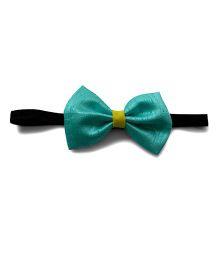 Pink Velvetz Bow Headband - Turquoise Green