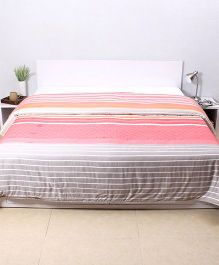 HouseThis The Urban Stripes Double Dohar - Pink