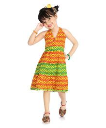 Little Pocket Store Ethnic Style Dress - Orange