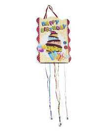 Funcart Happy Birthday Gifts Pull String Pinata - Multicolor