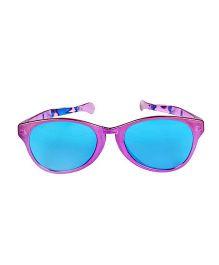 Funcart Jumbo Round Glasses Metallic Finish - Purple