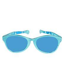 Funcart Jumbo Round Glasses Metallic Finish - Sky Blue